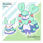 Snowki and Snowkoro by Tsunfished