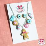 Pastel GingerBreadMan Parure by dragonfly-world