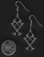 Kingdom Hearts Earrings by iceSylum