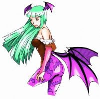 Morrigan of Darkstalkers 2 by mamat88fiction