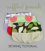 Sewing Tutorial - Ruffled Zipper Pouch by SewDesuNe