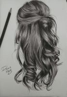 kinda wavy hairstyle drawing by staceyElmoro