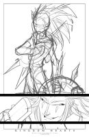 Commish 110 WIP 01 by RobDuenas
