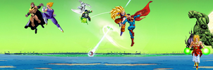 Dragon Ball vs Superheros Comics preview by JayC79