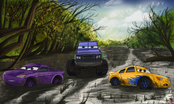 Mudding in the swamp by Foxfan1992