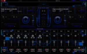 New Skin Alien Blue 2012 For Virtual DJ 7 by THERECORDBLACK01