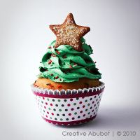 Xmas Tree Faux Cupcake 03 by CreativeAbubot