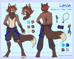 Lance the blacktail fox - ref by Neko-Maya