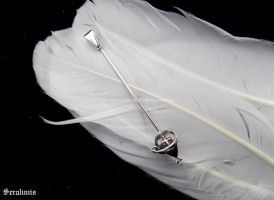 'Tiny rapier', handmade sterling silver pendant by seralune
