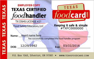 Food Handlers Permit After Getting Job