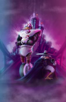 Darkwing/Gizmo The REAL worlds finest by inkycharland