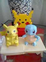 Pikachu and Squirtle Pokedolls by PrincessStacie