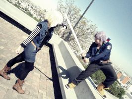 Trunks vs Android 18 by Nao-Dignity