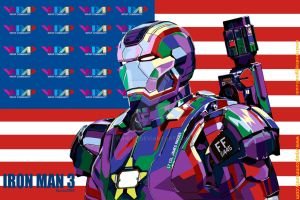 IRON MAN 3 IN FULL COLOUR WPAP by YUHEND