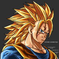 Future Gohan SSJ3 - for Hulkty by JJJawor