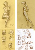 Figure drawing and doodling by hakepe