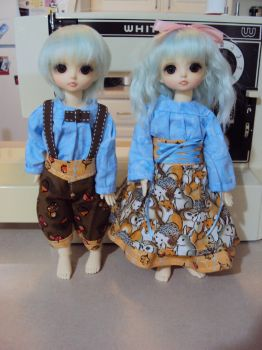 Twinsy Forrest outfits by Mystdolls