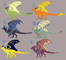ADOPTABLE BATCH- OPEN by Fyre-feathers