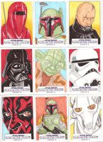 Star Wars Galactic Files Series 2 Sketch Cards 13 by Tyrant-1