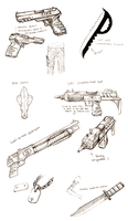 Weapons sketches by rivaste