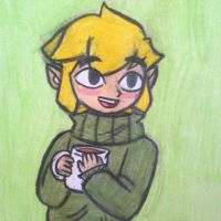 Sweater Link by angry-toon-link