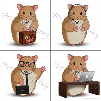 Holiday Hamster Logos by Mangsney