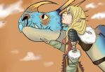Astrid and Stormfly by YammiJammi69