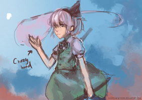 Youmu is awesome (WIP??????) by Shinigamiwyvern
