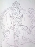 Toshiro and Hyorinmaru by TOPCAT91