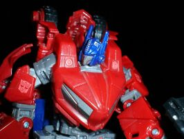 My WFC Optimus Prime Figure by SALVAGEPRIME8686
