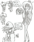 The day Mr.L went mad sketches: part 1 by Crazy-Drawer101