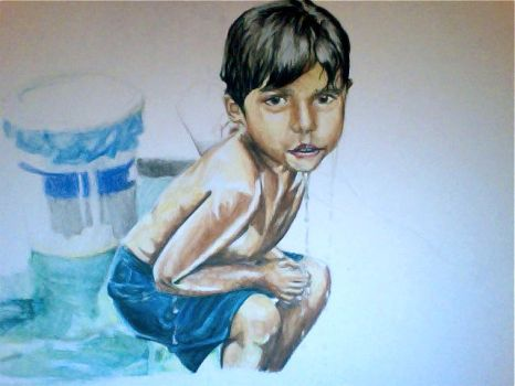 sri lankan child WIP 2 by voodugirl