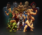 STREET FIGHTER II: The World Warrior by CrescentDebris