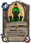 Youtuber Hearthstone Cards: The Gecko Ninja by HackalotSpark