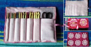 crochet hook case by WollMia
