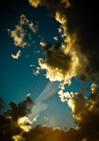 Summer Sky Contrail by Gingerspine