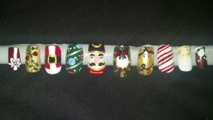 Christmas Nails by XOMBIE-OCTOPUS-QUEEN