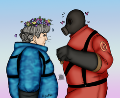 Classic and TF2 Pyro by Blackmoonrose13