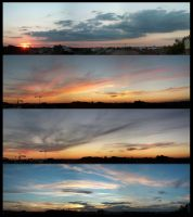 sunset view on my balcony by Laolun