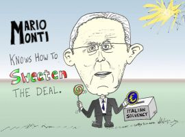 Prime Minister Monti and the solvency deal sweeten by optionsclickblogart