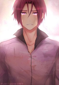 Matsuoka Rin-''I'm not crying.'' by PunksGoneDaft