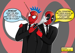 Deadpool and Spidey by Xaeon03