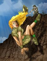 Cliffhanger by SteveOReno by gypsyleo