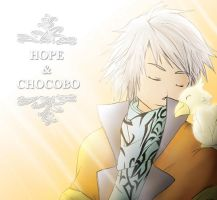 Collab:_Hope and Baby Chocobo by Bob-Raigen