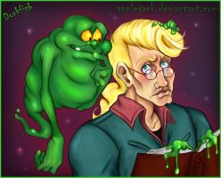 GB: Slimer and Egon Spengler by applejack