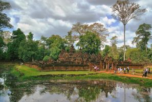 Banteay Srei Temple  1 by CitizenFresh