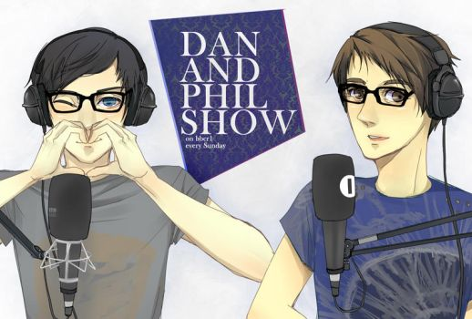 DAN AND PHIL SHOW ON BBCR1 FJADFSFL by carrienloveyou