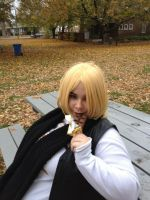 Mello and his chocolate 3 by L-luvs-cake