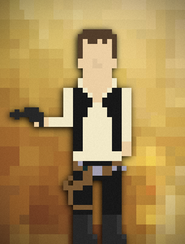 8bit Han Solo by DavidtheDestroyer