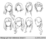 manga girl hair reference sheet II - 20130113 by StyrbjornA